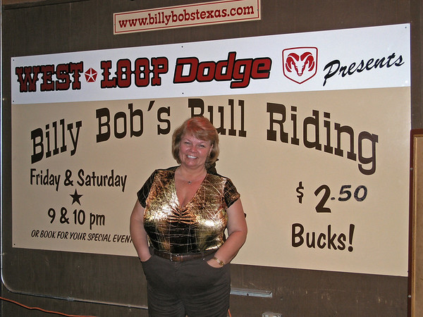 Nancy at Billy Bob's Texas - 26 Feb 2006