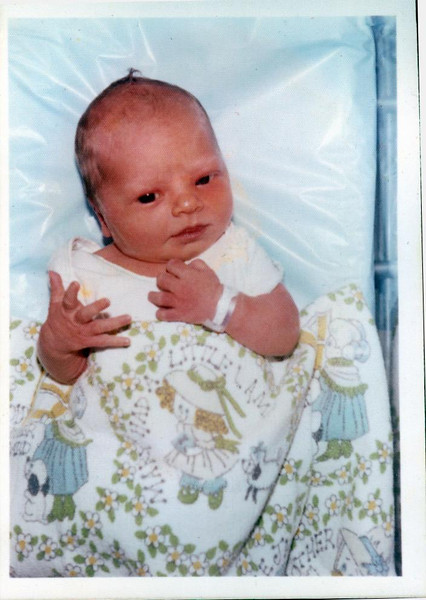 Christina Josephine a few hours after birth