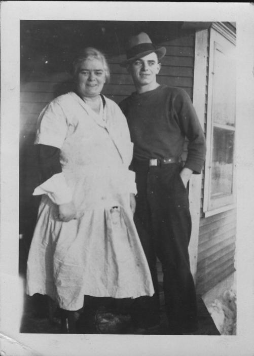 Grandmother Bertha Robertson and William on his 18th birthday