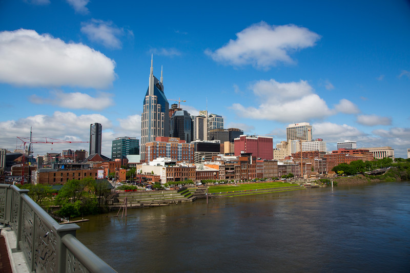 Downtown by the Cumberland River