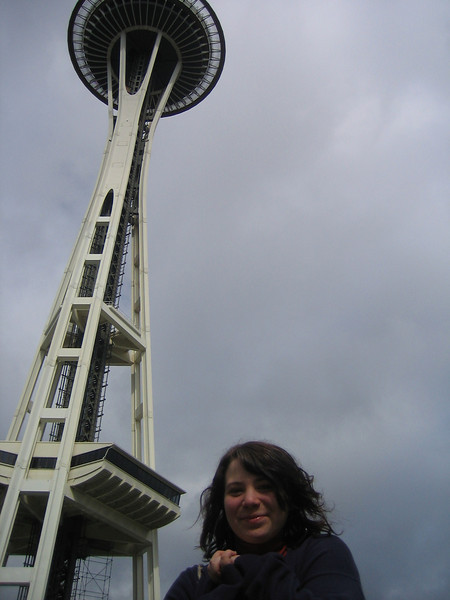 In front of the Space Needle.
