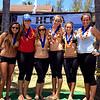 Kamehameha Canoe Club Girls 18 gold medal crew.