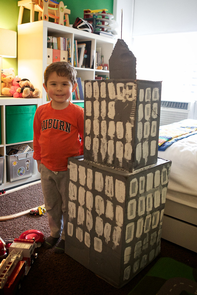 Nate's summer art project, the Empire State Building