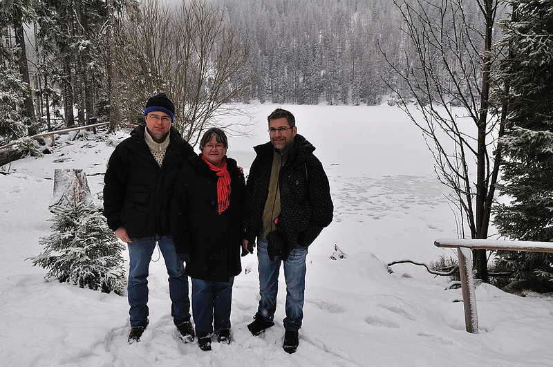 společné foto u Prášilského jezera