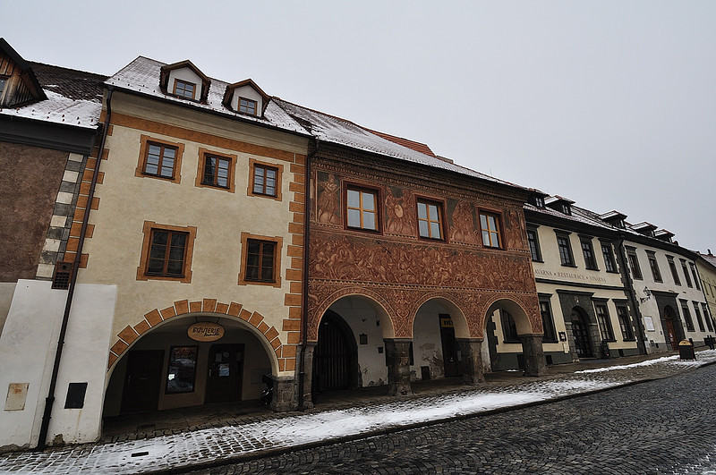 renesanční domy na náměstí v Prachaticích