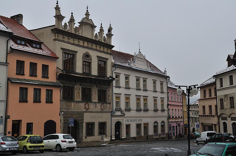 budova musea na náměstí v Prachaticích