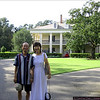 We went over to the neighboring Oak Alley Plantation and walked around. Their tour guides are in the back, in the big flowy red skirts.
