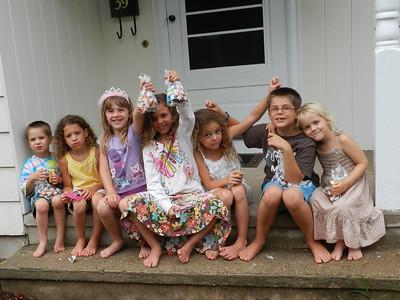 Miller, Haley, Sofia, Megan, Emily, Austin and Allegra
