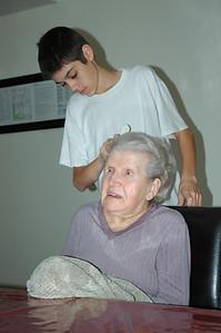 Nellie & Jeff combing-3