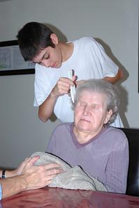 Nellie & Jeff combing