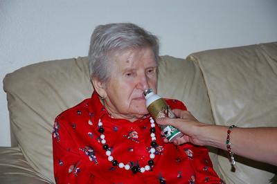 Nellie with Edmund's gift-Dec 2010_5661