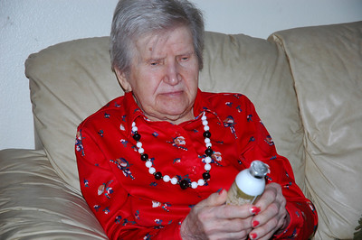 Nellie with Edmund's gift-Dec 2010_5658