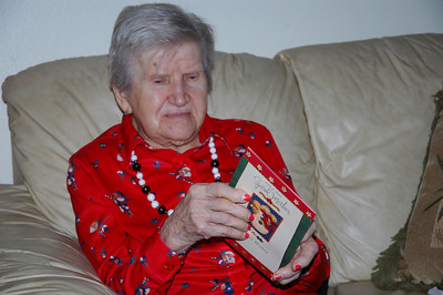 Nellie with Edmund's card-Dec 2010_5657