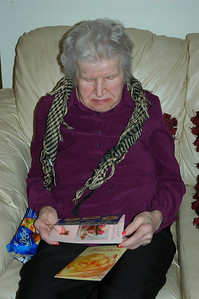 Nellie reading card-B-Day Sep 2010