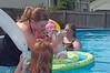 Hannah's first dip in pool