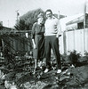Nestor with his mother Genevieve in mom and dad's backyard in Daly City, perhaps in 1961 or 1962.