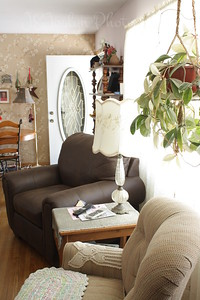 Living Room and Kitchen Changes, February 2010   Living Room, outside wall, door, windows, etc.
