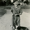 """Johnny as a hunter in the lawn party parade, June '40."""