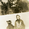 """Esther and Phyllis. These were taken after hardest snowstorm of '39."""