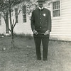 """Dad in his part as a policeman in 'The Old Homestead,' 1939."""