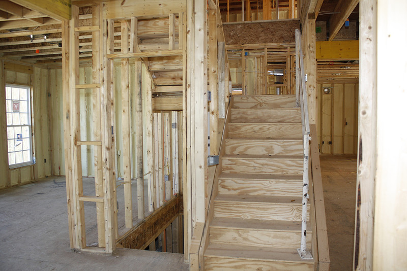 stairs = left - down to basement, right - up to 2nd floor