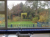 View from the kitchen out down the garden.