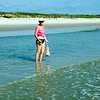 Cindy explores the Canaveral National Seashore beach