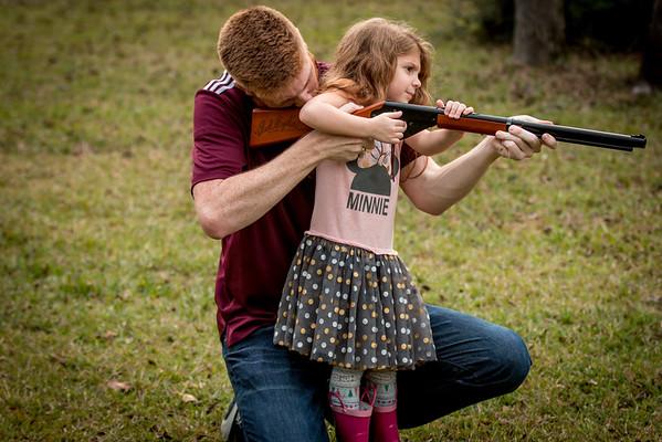 """This gun is pretty heavy, Uncle Noah!"""