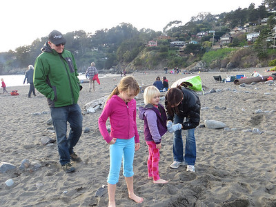 The Carlin's arriving at Muir Beach