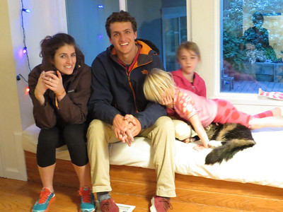 Celeste, Mark, the girls and Puppy