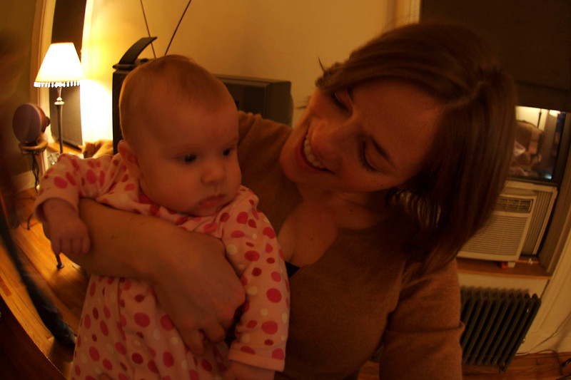 Lily w/ her favorite Charlotte aunt, Rose