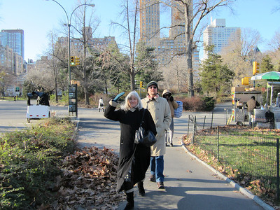 our first walk through Central park.  It was 29 degrees that day.