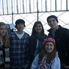Cousins at the Empire State Building, Bronnie, Kevin, Jennie, Katie and James.