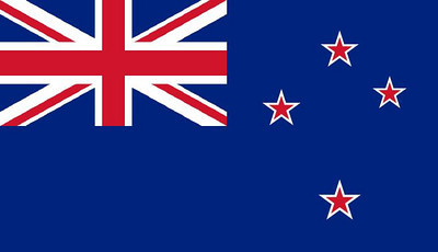 This is the Kiwi flag, with the union jack at left and the stars representing the Southern Cross at right.  I was actually able to see this southern hemisphere constelation from the airplane.
