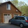 The new Sienna at it's new home, with new garage doors.