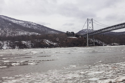 Bear Mountain Bridge on Hudson River