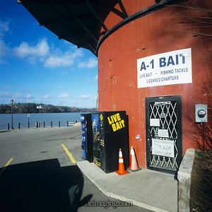 Pepsi and Live Bait: Lewiston by the Niagara River, December 29, 2008
