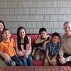 Judi and Chris Ng Cashin and Family (Creel, 13, Chan, 11, Larkin, 9, Jude, 7) and Judi's parents Anastacio and Maria Beth Ng.