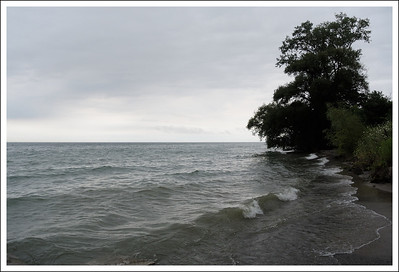 Lake Ontario on the shore of our B&B.