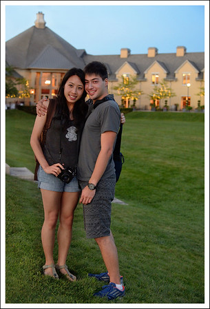 Chloe and Raymen at another vineyard where we had desert.  Peller Estates