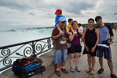 Niagara with Kento's and Raymon's families