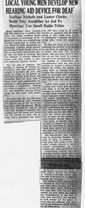 Article about the very beginnings of Nichols and Clark.  For legible version, see full-text.