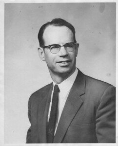 "Nathan P. Nichols, President of Nichols and Clark, Inc., manufacturer of UNEX hearing aids, which he said were ""unexcelled.""   He preferred to be called ""Nick""  – see  separate album for more photos of Nick."