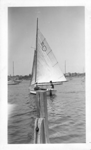 Nick in one of his earliest sailboats.
