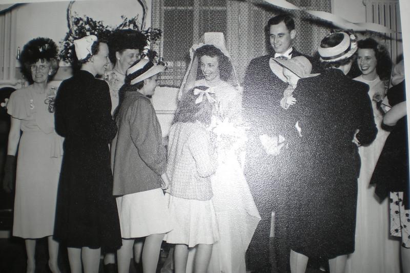 Annie Nicholson far left, El & Paul, Jean Nicholson far right