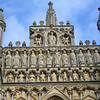 The 12 apostles on Wells Cathedral front door