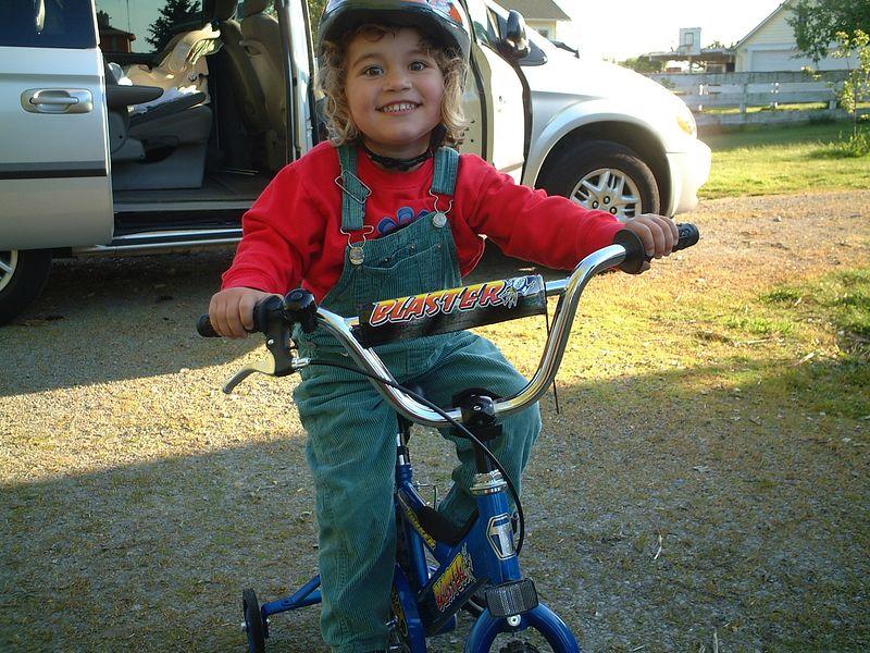 Elora and her bike
