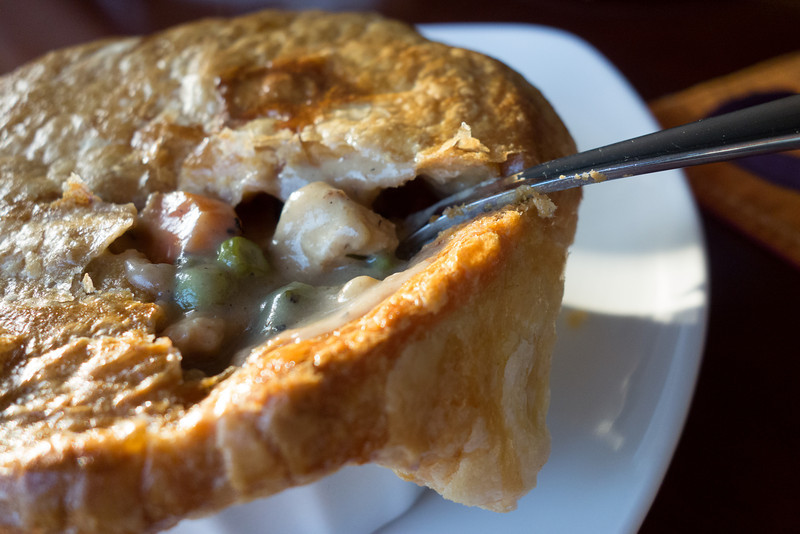 Made Catherine her favorite, chicken pot pie.