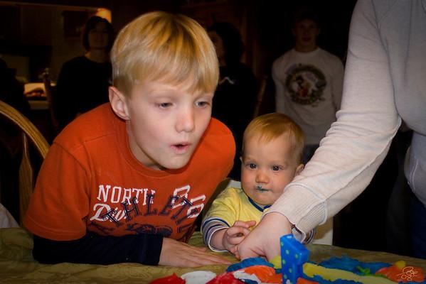 Nolan 1st Birthday and Halloween