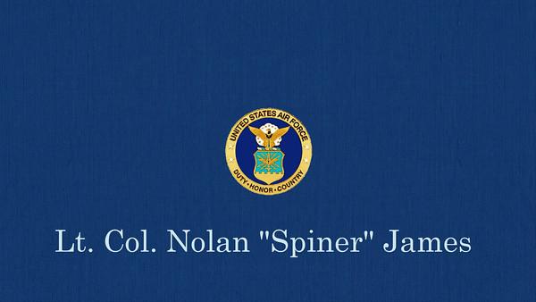 """Nolan """"Spiner"""" James USAF Retirement"""